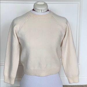 Escada ivory cashmere Crop Sweater cardigan XSP 36